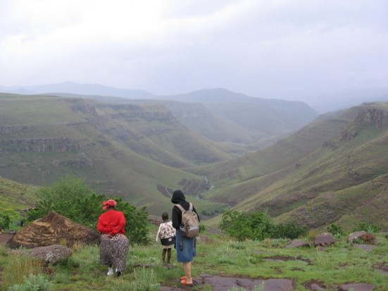 mountainous terrain is one of the challenges in Lesotho