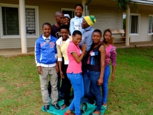 participants in Help Lesotho's leadership camp to support girls leadership development in Africa
