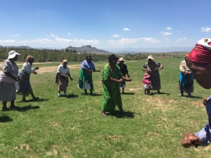 Grandmother's in Lesotho dancing