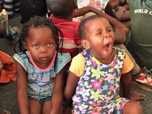 Sleepy small children in Lesotho