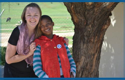 Two Lesothos Girls Globe