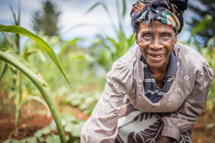 smiling granny in Lesotho