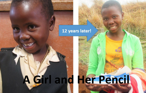 A Young Girl and Her Pencil