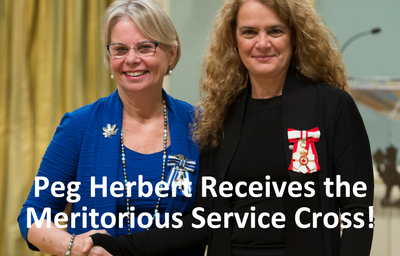 Peg Receives the Meritorious Service Cross!